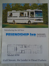 Gulf Stream Friendship Lxe Diesel Motor Home brochure c1992