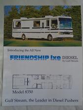 Gulf Stream Friendship Lxe Diesel Motor Home brochure c1992