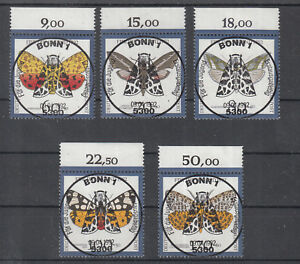459 ) Germany 1992 Moths Insects Nature Welfare  fantastic full stamp