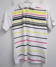 NEW! River Crest Golf youth boys white polo shirt top sz L ages 9-10#6043 c108