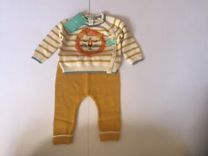 Monsoon Baby Boys Knitted Lion 2 Piece Set Age 3-6 Months *BNWT*