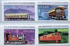 GHANA 1978 783-86 B 678-81 IMPERF Railroad Eisenbahn Train Züge Railway MNH