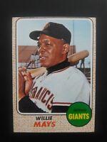 1968 Topps #50 Willie Mays Baseball Card, EX (OC), Giants