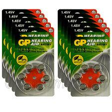 60 cells x GP ZA13 Size 13 Hearing aid batteries Zinc air 10 Packs EXP:2020