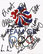 ATHLETICS: TEAM GB SIGNED 10x8 EMBLEM PHOTOx16+COA *RIO 2016**FARAH**RUTHERFORD*