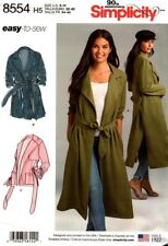 Simplicity Sewing Pattern 8554 Womens Coat or Jacket Size 6-14