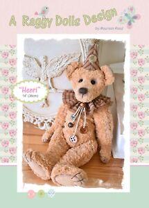 HENRI VINTAGE BEAR - Sewing Craft PATTERN -  Artist Jointed Bear Pattern
