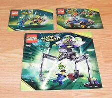 LEGO Instruction Manuals (7049, 7050 & 7051) Alien Conquest Defender / Tripod