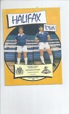 Fourth Division Halifax Town Teams F-K Football Programmes