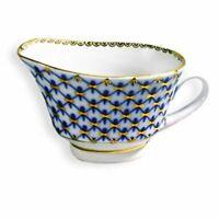 Lomonosov Table Wear Porcelain Cobalt Net Gravy Boat