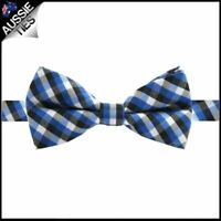 Boys Blue, Black and White Check Bow Tie