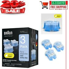 3 Count Braun Clean Renew Cartridge Refills Series 3 5 7 Genuine Shaver Cleaner