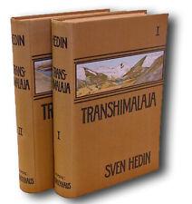 Sven Hedin / Transhimalaja Vol 1 & 2 complete Himalaya Tibet First Edition 1909