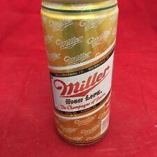 Miller High Life empty beer can, pop tab top, 16 oz, aluminum