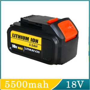 For Dewalt DCB182 5.5Ah 18V XR Li-ion Battery DCB180 DCB200 DCC785 DCB184 Slide