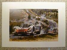 1968 Porsche 906 Carrera 6 Coupe Gotschke Showroom Advertising Poster RARE 23x17