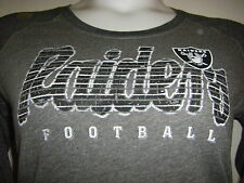 NFL TEAM APPAREL RAIDERS Gray Cotten Women's Size Large NEW PACKAGED