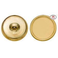 C&C Metal Products 5200 Plain Rim Metal Button, Size 30 Ligne, Gold, 36-Pack