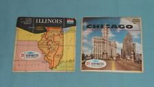 vintage ILLINOIS & CHICAGO VIEW-MASTER REELS LOT x2 packet