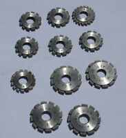 WATCHMAKER CLOCKMAKER WHEEL & PINION CUTTERS BY MCMASTER CARR M 0.20 7MM CENTER
