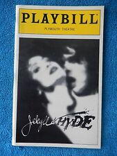 Jekyll & Hyde - Plymouth Theatre Playbill w/Ticket - October 14th, 1999 - Evan