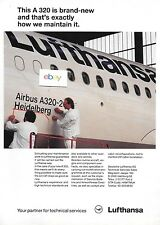 "LUFTHANSA GERMAN AIRLINES AIRBUS AIRBUS A320 ""HEIDELBERG"" 1990 BRAND NEW AD"
