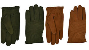 Ralph Lauren Purple Label Quilted Suede Leather Cashmere Gloves New