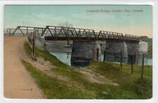 VAUXHALL BRIDGE, LONDON: Ontario Canada postcard (C30818)
