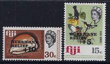 1972 FIJI HURRICANE RELIEF STAMPS SET OF 2 FINE MINT MNH/MUH