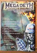 MEGADETH Tour Of Duty 2008 magazine ADVERT/Poster/clipping 11x8 inches