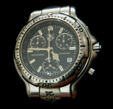 TAG Heuer 6000 Men's Stainless Steel Chronograph Watch CH1113 ***SEE DETAILS***