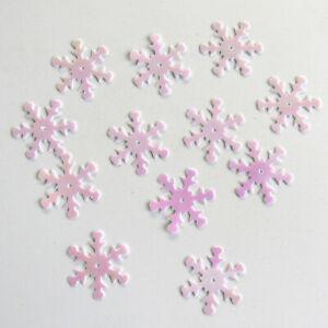 Sequins White Iris/AB Snowflakes ~60 pieces Loose