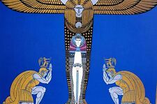 Erte 1987 CLEOPATRA CLEOPATRE EGYPTIAN PRINCESS QUEEN SOLDIERS Art Deco Print