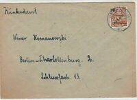 Germany 1949 Berlin Overprint Berlin Neukolln Cancel Stamps Cover Ref 24075