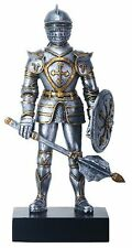 """GOTHIC KNIGHT with MACE Statuette, 9"""" Tall, Hand-Painted, by Summit"""