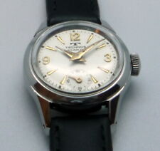 LADIES VINTAGE SWISS MANUAL WIND TECHNOS  CAL FHF 63  ALL STEEL CASE 22,5 MM