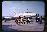 1950's USAF North American F-100 Super Sabre Aircraft, Germany, Orig. Slide a2