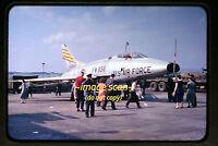 1950's USAF North American F-100 Super Sabre Aircraft, Germany, Orig. Slide a2a