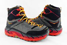 Hoka One One Tor Ultra Hi WP Black/Flame Hiking Trail Boots Mens Size 9 *NIB*