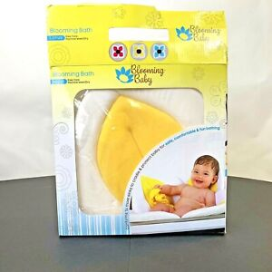 Blooming baby bath Yellow lotus Easy Care Machine wash / Dry New Open Box.