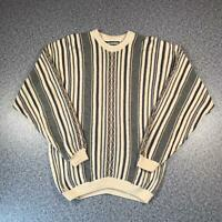 Vintage 90s VAN HEUSEN Cosby Style Mens Sweater XL | 3D Knit Jumper