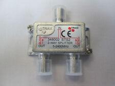 DEVIATORE A 2 VIE SATELLITARE TRIAX TipoF Splitter 5-2400 MHz VHF/UHF/IF 348002