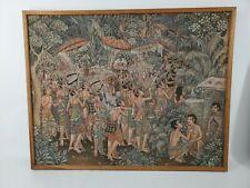 UBUD Indonesia Balinese Painting by Bali Artist Original Signed in Wooden Frame