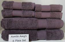 Ralph Lauren~Wescott Towels Noble Purple 6 Piece Set~2 of each Bath~Hand~Face