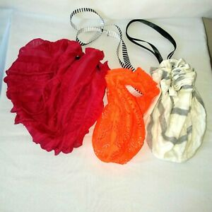 Lot of 3 Booty Bag Cosplay Pouches Renaissance Fair SCA LARP Costume Accessory