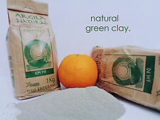 Pure Organic French Green Clay Fine Powder 2.2 LBS 1 Kg natural