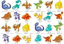 24x CARTOON DINOSAUR Birthday Party edible stand up cup cake muffin toppers