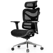 Costway Mesh Office Chair Adjustable High Back Reclining Task Swivel Chair Black