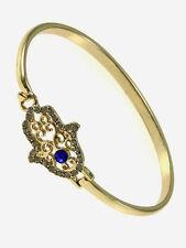 Gold Hamsa Charm Protection Bangle Fashion Design Trendy Bohemian Bracelet