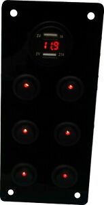 RED 12V Switch Panel/Unit  Motorhome VW Campervan Watercraft